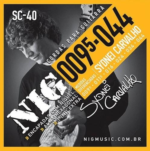 Encordoamento Nig Sc-40 Guitarra Sydnei Carvalho 009.5-044