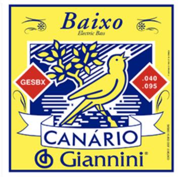 Encordoamento para Baixo Canário Giannini Gesbx 4 Cordas .040