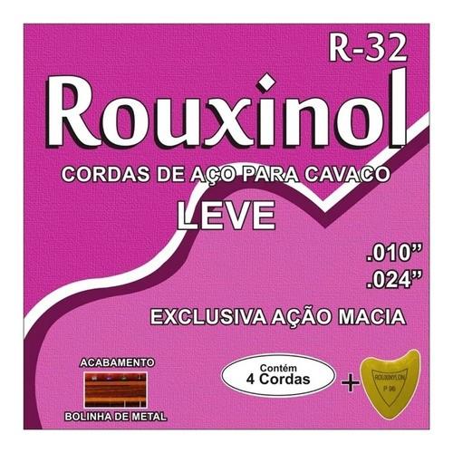 Encordoamento Rouxinol R-32 Cavaquinho Aço Tensão Leve