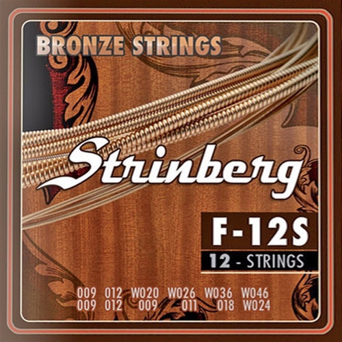 Encordoamento Strinberg Violão 12 Cordas F-12s Corda Aço F12