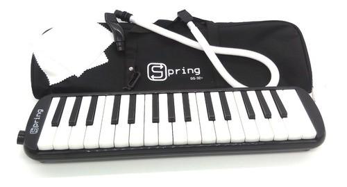 Escaleta Spring 32 Teclas Preta Melódica Com Bag