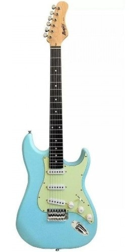 Guitarra Stratocaster Memphis Mg 30 Azul Fosco