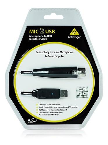 Interface Behringer Mic 2 Cabo Usb Xlr