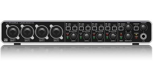 Interface De Audio Behringer Umc 404hd U-phoria