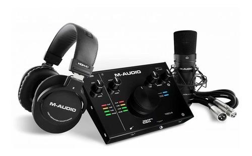 Kit Interface M-audio Air1924 Mic E Fone Profissional 24bits