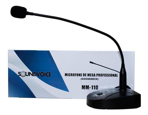 Microfone de Mesa Soundvoice Plenário Mm -110