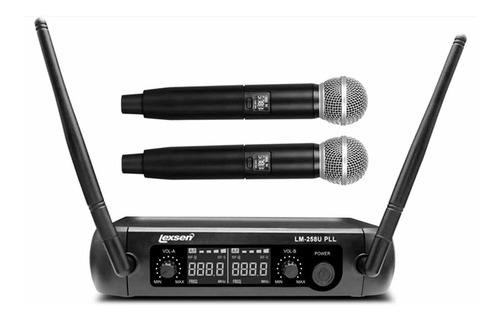 Microfone Sem Fio Duplo Lexsen Lm-258u Pll Uhf