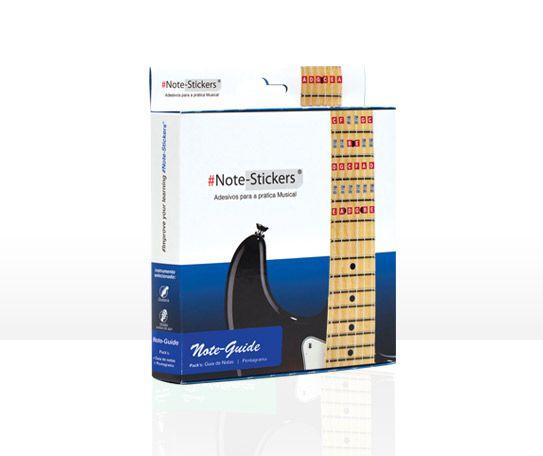 Note-Stickers - Pack Note-Guide- Guitarra e Violão Cordas de Aço