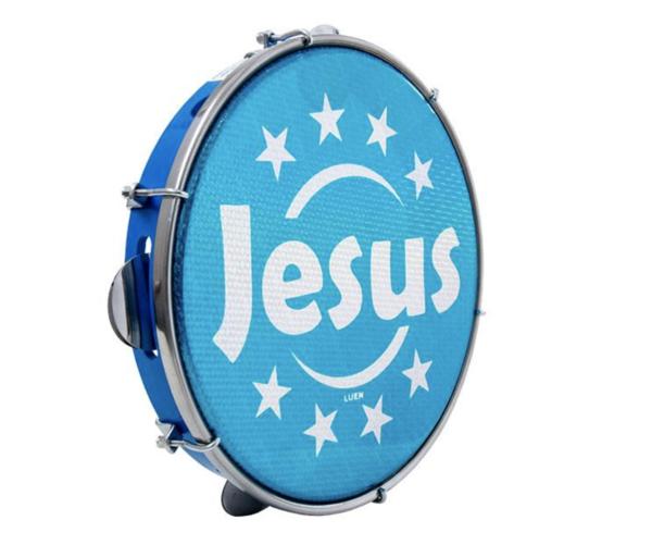 Pandeiro Luen Jesus Aro Abs Azul
