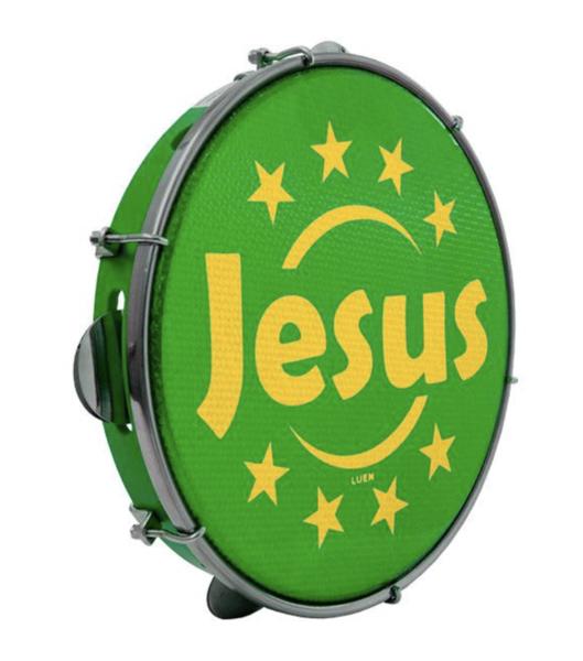 Pandeiro Luen Jesus Aro Abs Verde