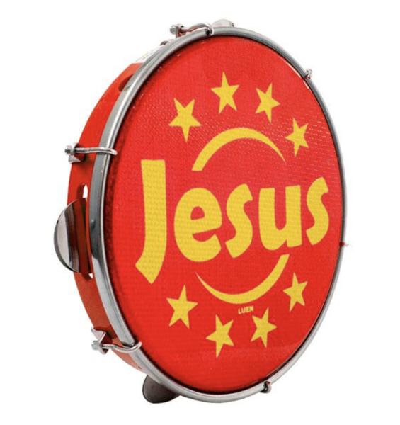 Pandeiro Luen Jesus Aro Abs Vermelho