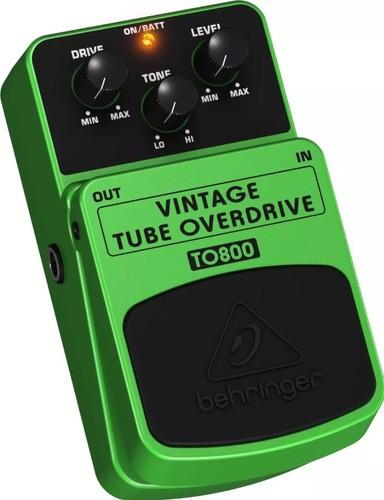 Pedal Behringer To800 de guitarra Vintage Tube Overdrive