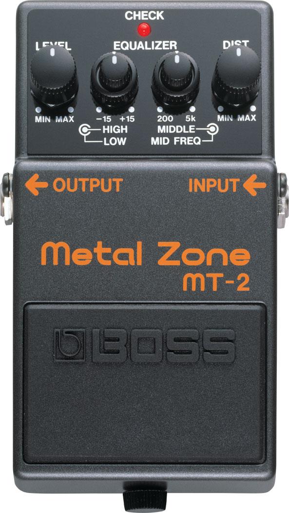 Pedal Boss para Guitarra MT-2 Metal Zone