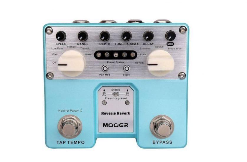 Pedal Mooer Reverie Trv2 Reverb Digital para Guitarra