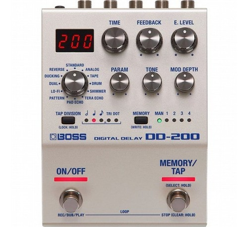 Pedal Para Guitarra Boss Dd-200 Digital Delay