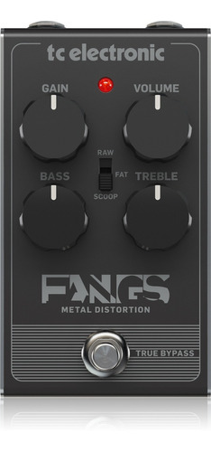 Pedal Tc Electronic Fangs Metal Distortion