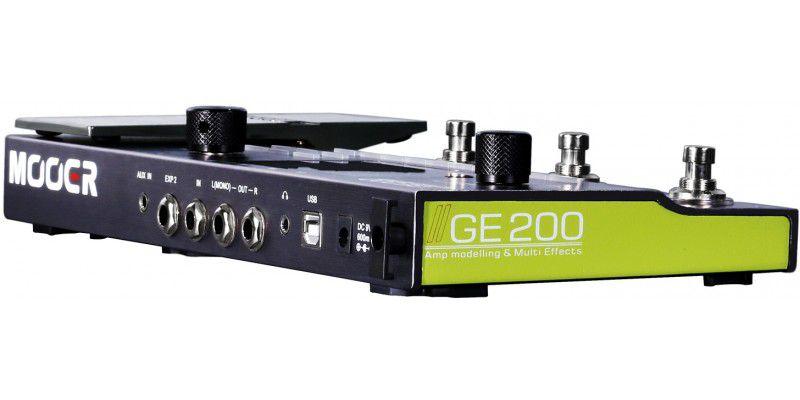 Pedaleira Multi-efeitos Para Guitarra Mooer Ge200