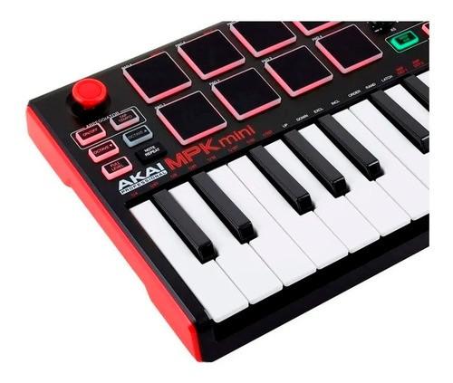 Teclado Controlador Akai Mpk Mini Mk2 Com 25 Teclas Usb