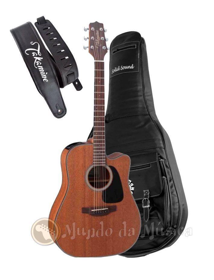Violão Folk Takamine Gd11 Mce + Capa De Couro Luxo + Correia