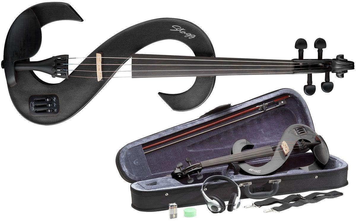 Violino Eletroacústico  Stagg Preto EVN 4/4
