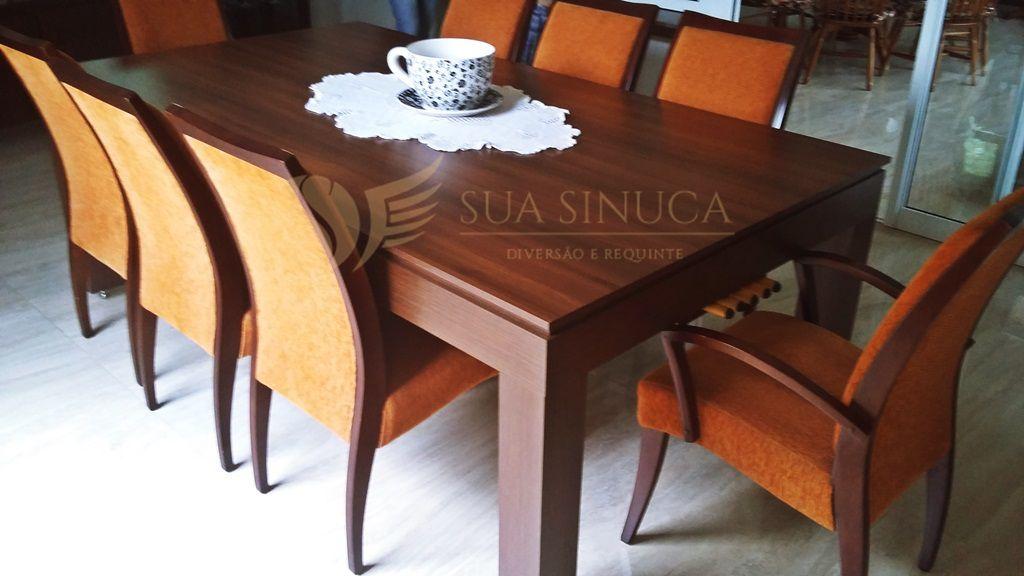 Mesa de Sinuca e Jantar New Fitada  - Sua Sinuca