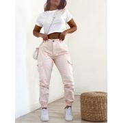 Calça Jogger Jeans Rosê