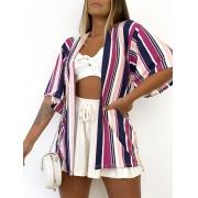 Kimono Listrado Color