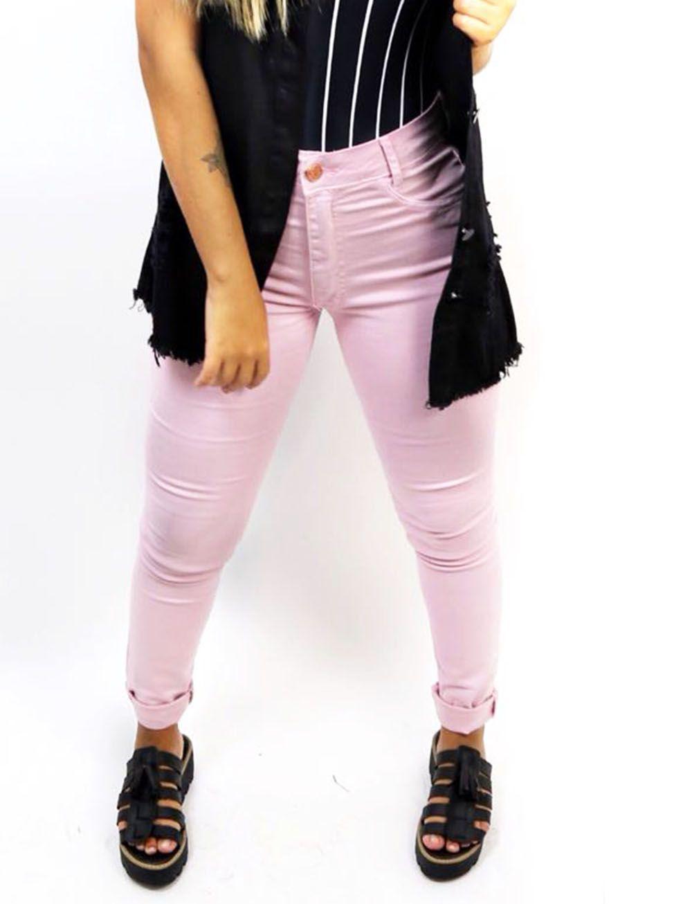 Calça Jeans Rosê