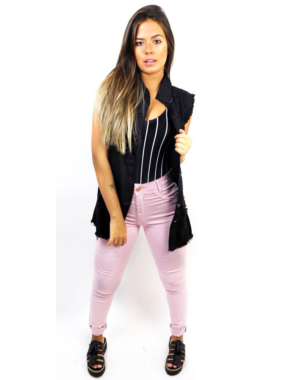 *Colete Jeans Color