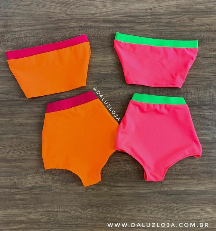CONJUNTO HOT PANTS NEON