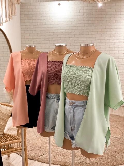 Conjunto Kimono + Top Vanessa