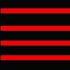 Listra vermelho e preto