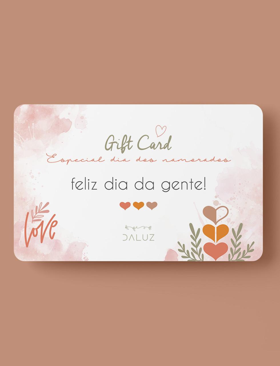 GIFT CARD ONLINE - ESPECIAL DIA DOS NAMORADOS