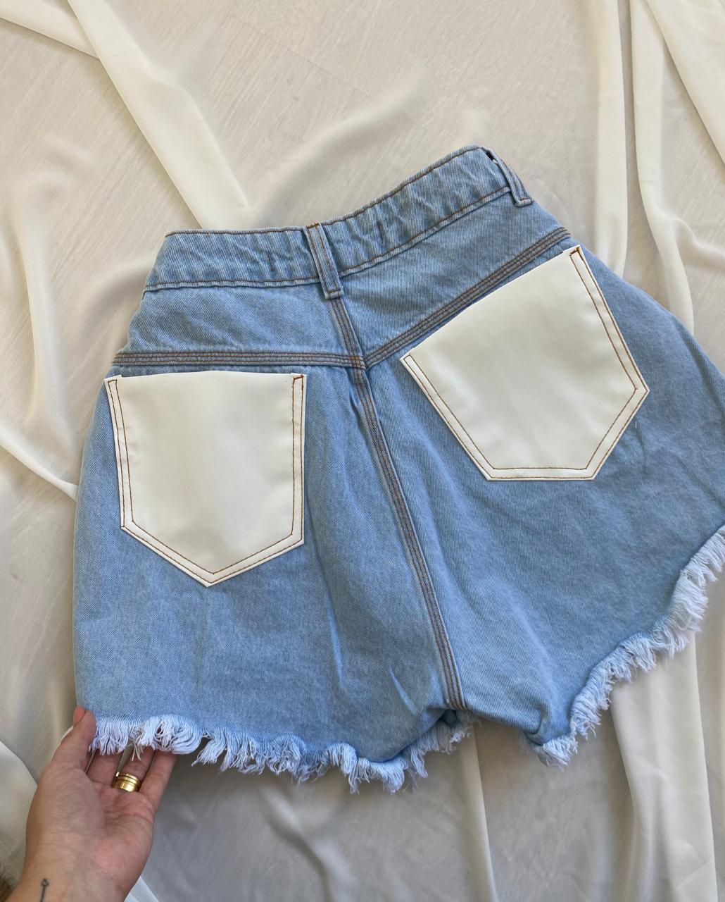 Short Jeans Botões Paloma
