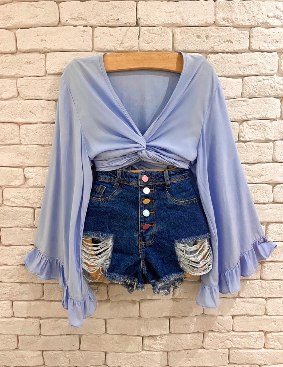 Short Jeans Collor Button