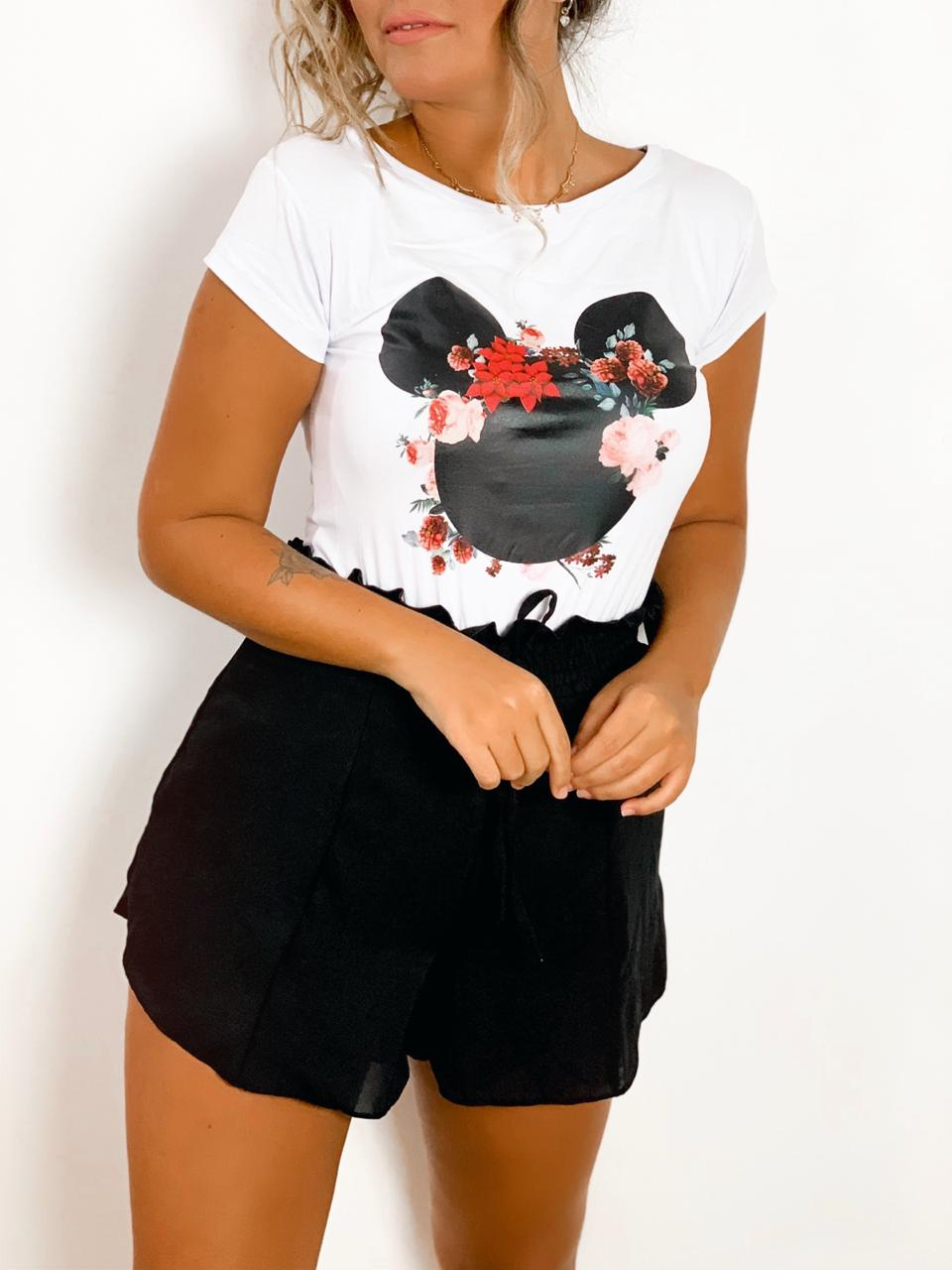 T-SHIRT MICKEY FLORES