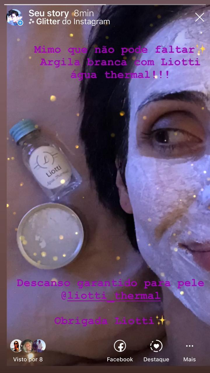 Máscara de Argila Branca Para Peles Sensíveis - 40g + Agua Thermal 30ml