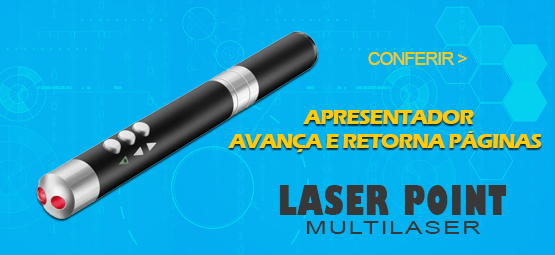 APRESENTADOR LASER POINT MULTILASER PRETO 2.4GHZ - AC251