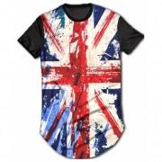 Camisa Long Line Personalizada - Bandeira Inglaterra