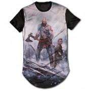 Camisa Long Line Personalizada - God of War