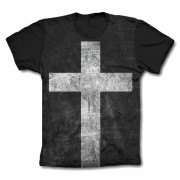 Camisa Personalizada - Cruz - Black White