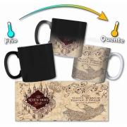 Caneca Magica Personalizada - Hogwarts Mapa do Maroto