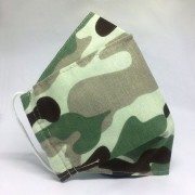 Mascara de Proteção - Modelo 3D - Exército verde