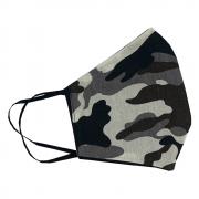 Máscara de Proteção - Modelo Anatômico - camuflado cinza