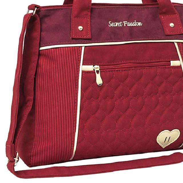 Bolsa Feminina Secret Passion Vermelha 10047 - Tn Bolsas