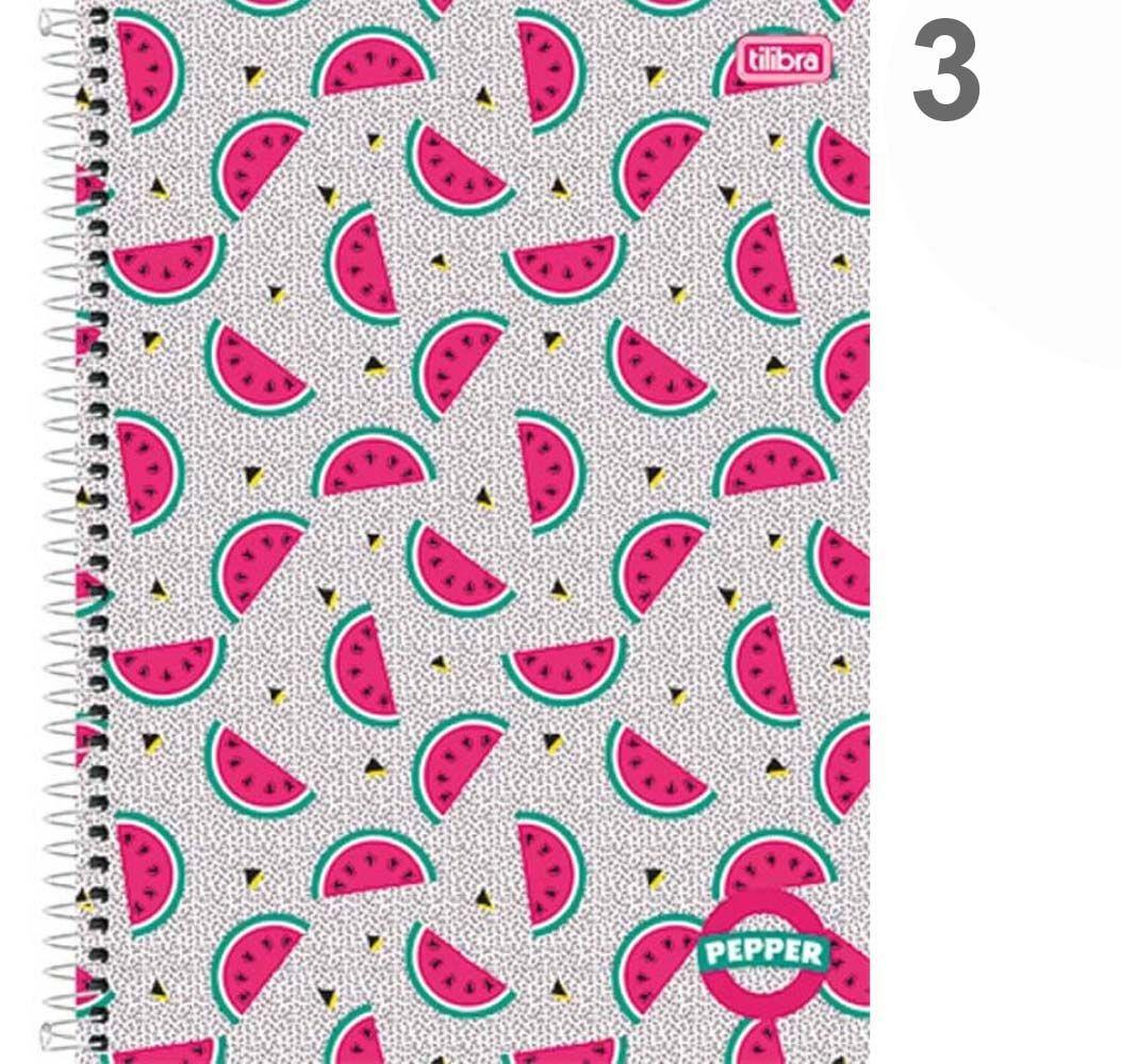Caderno Pepper Espiral Capa Dura Universitário 01 Matérias 80Folhas Tilibra