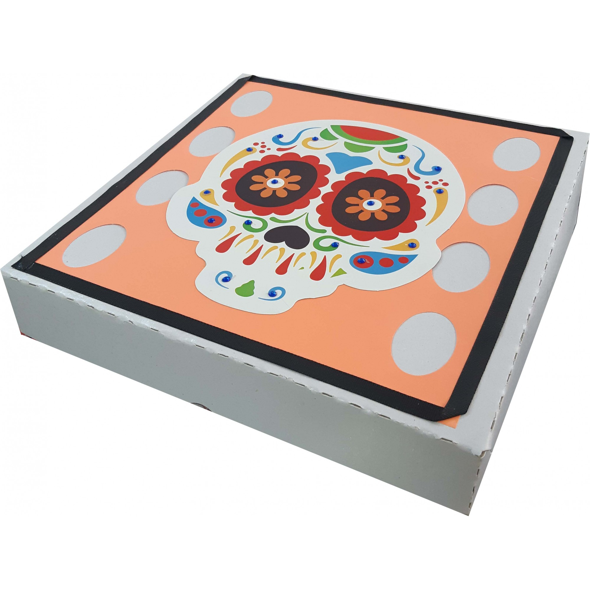 Caixa Para Presente - Caveira Mexicana