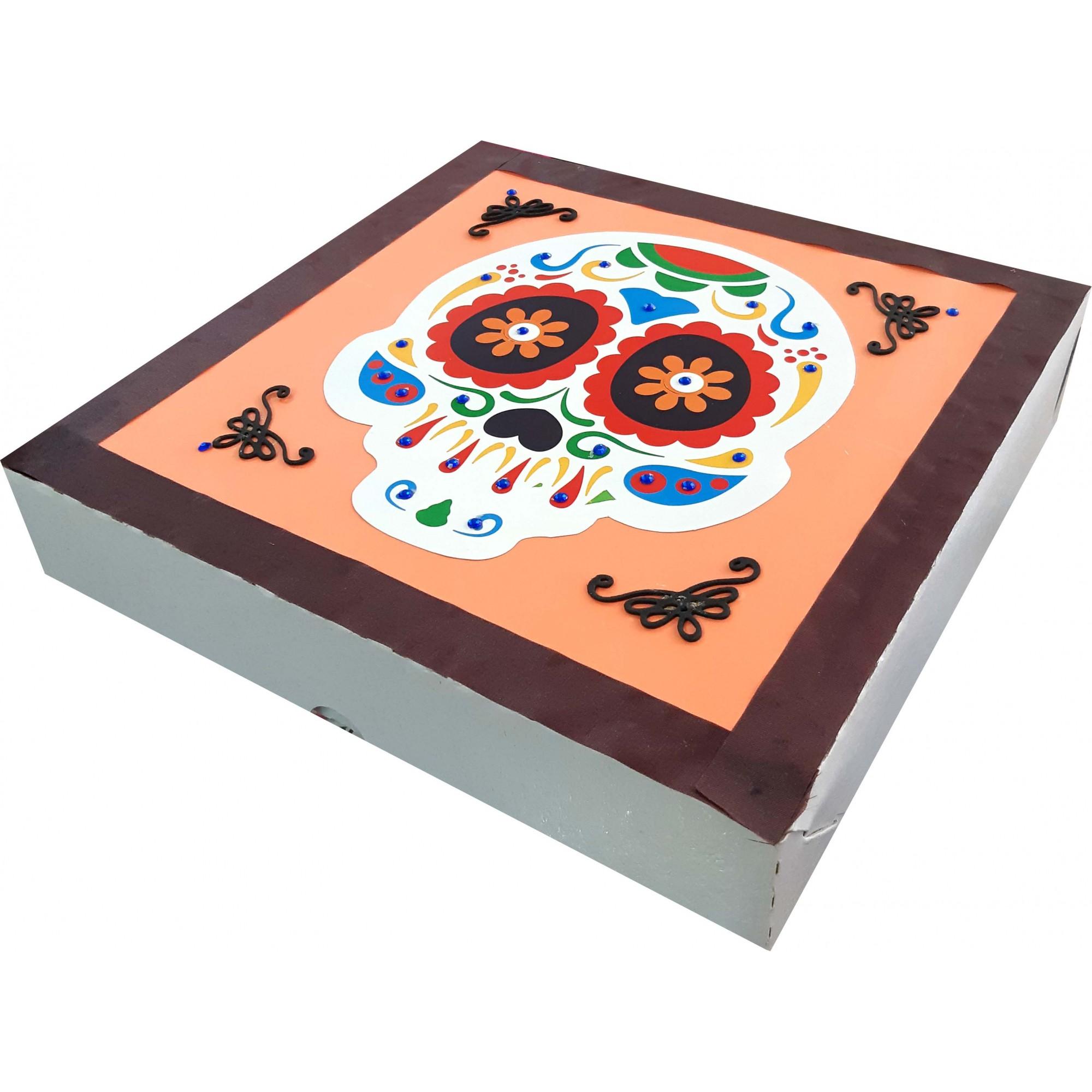 Caixa Para Presente - Moldura Caveira Mexicana