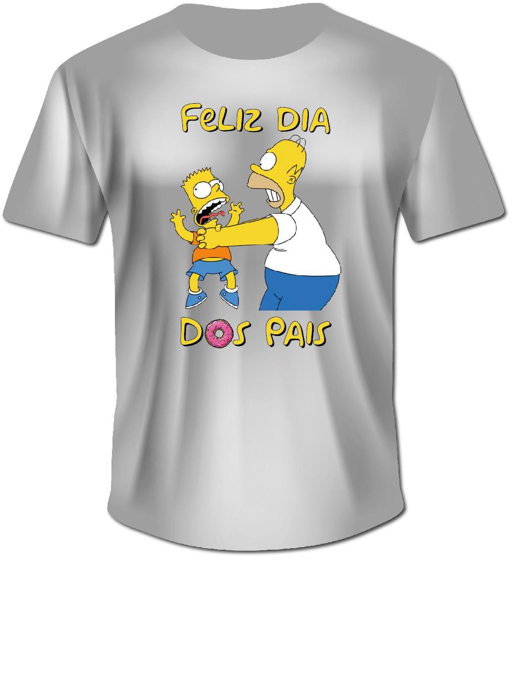 Camisa Personalizada dos Simpsons - Dia Dos Pais