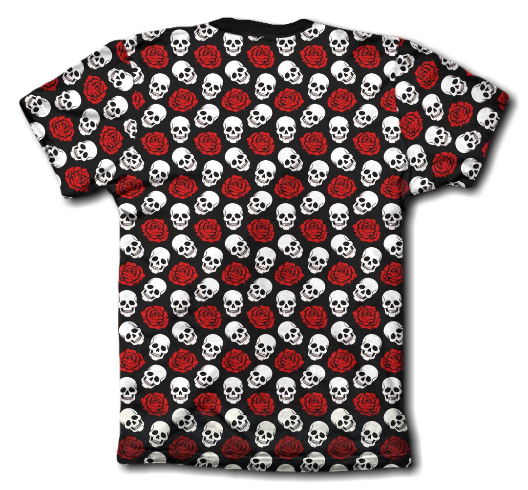 Camisa Personalizada - skulls and roses